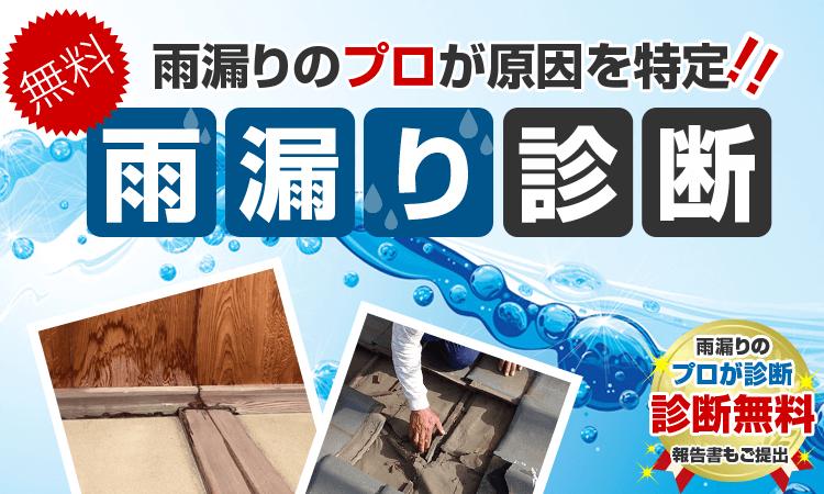 雨漏りのプロが原因を特定 無料雨漏り診断