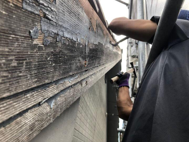 ①破風板取り替え工事