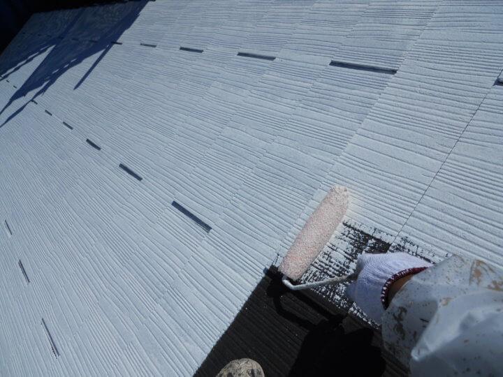 ⑦屋根下塗り