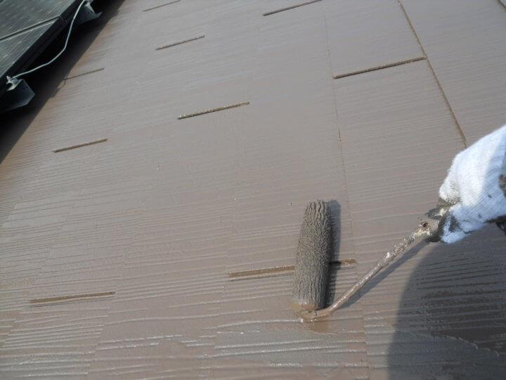 ⑨屋根上塗り 二回目