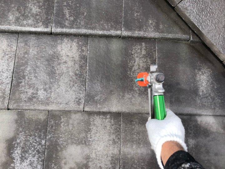 ⑨屋根下塗り 二回目