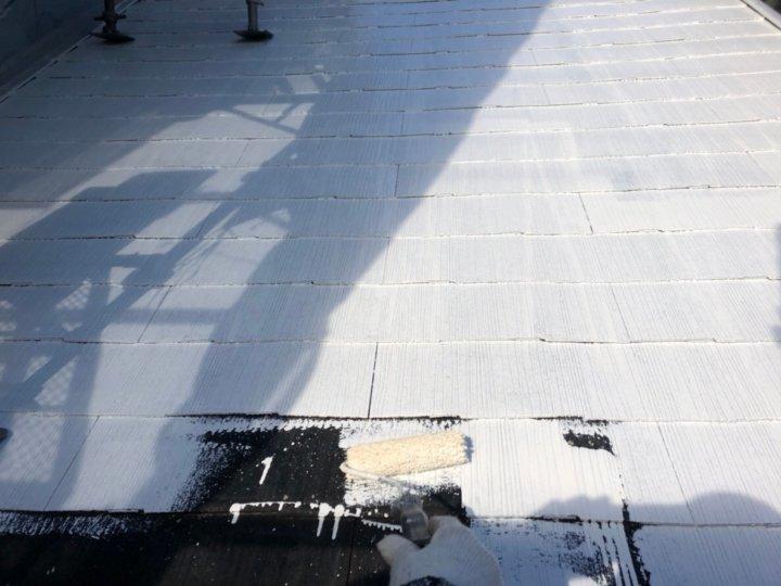 ⑤屋根下塗り