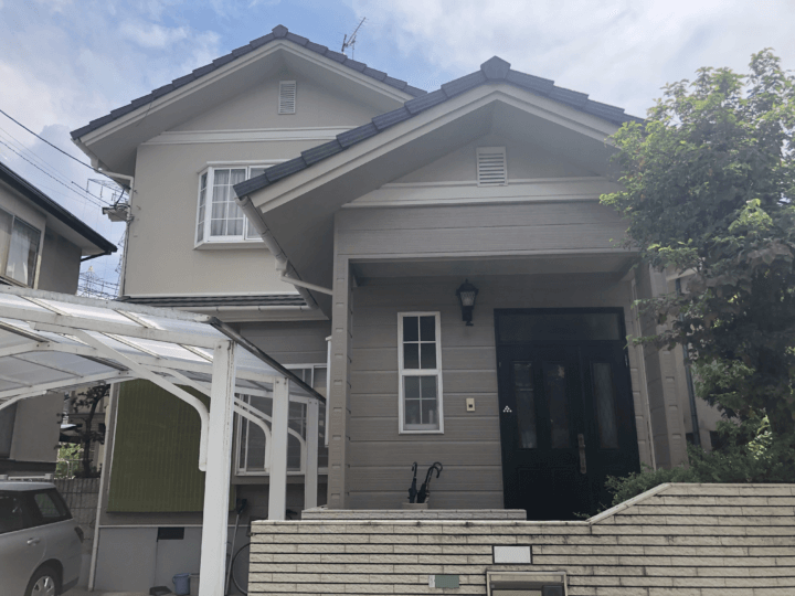 広島市安佐北区口田南 K様邸 外壁塗装・屋根塗装工事