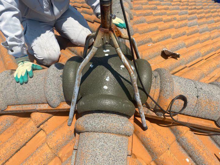 ④屋根瓦補修