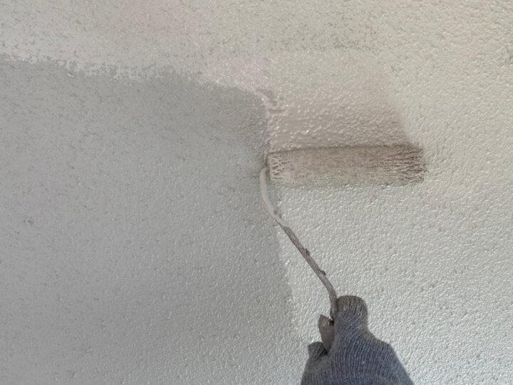 ⑪外壁上塗り 二回目(モルタル壁)