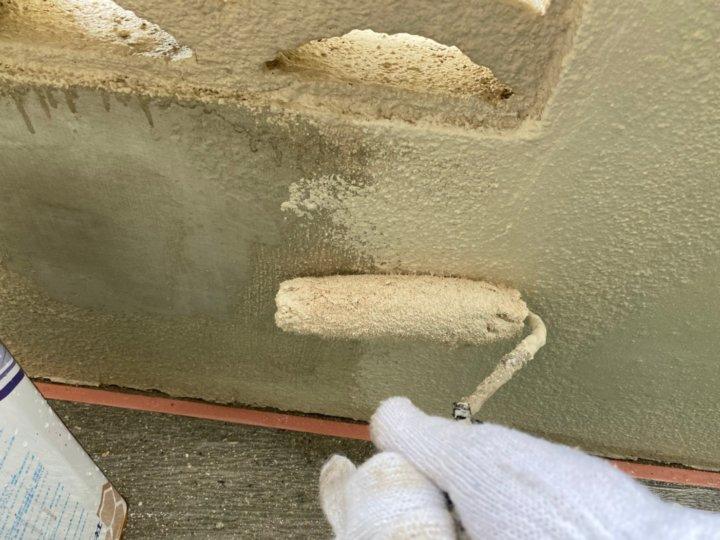 ⑫外塀上塗り 一回目