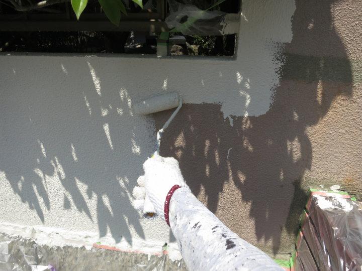⑬外塀上塗り 一回目