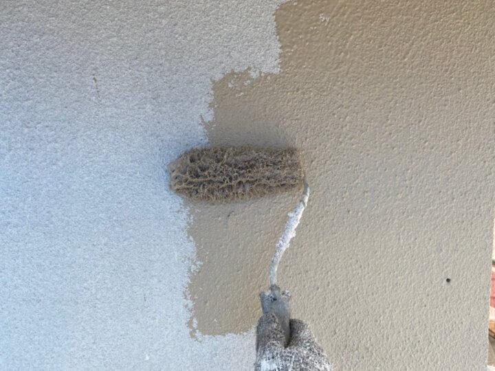 ⑩外壁上塗り 一回目(モルタル壁)