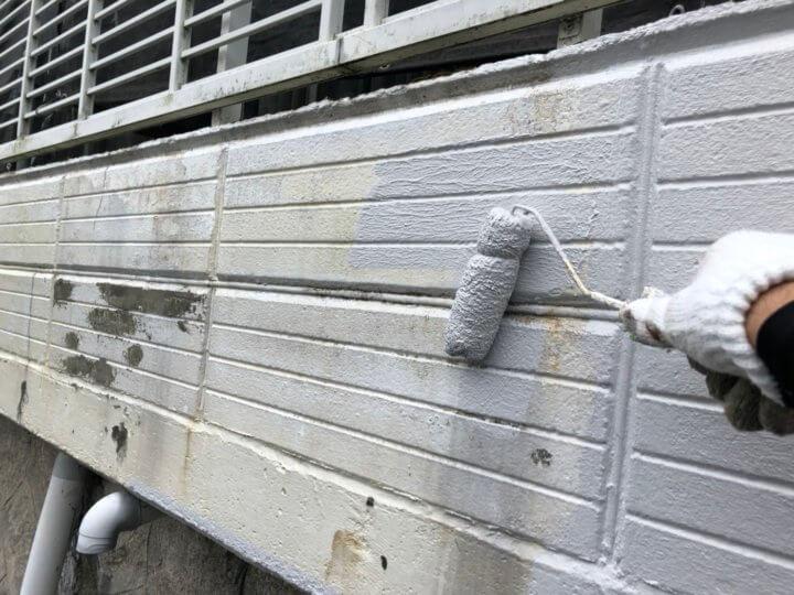 ㉔外塀上塗り 一回目