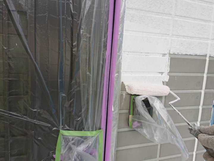 ⑩外壁下塗り