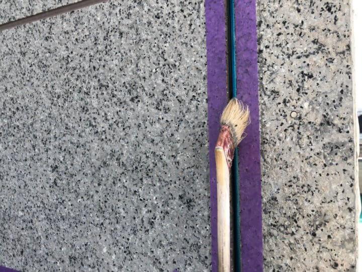 ②プライマー塗布(シーリング工事)