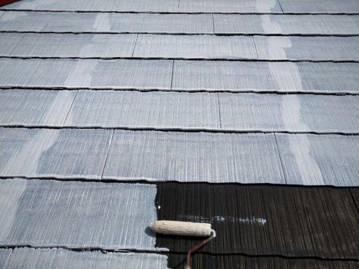 ⑨屋根下塗り