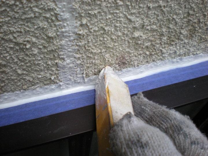 ④外壁コーキング補修