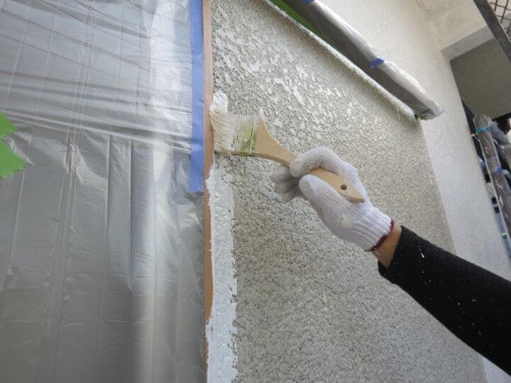 ⑤外壁中塗り