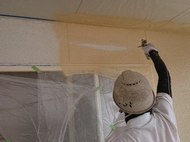 ⑮外壁中塗り(2階モルタル壁)