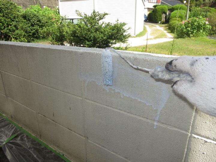 ⑬外塀下塗り