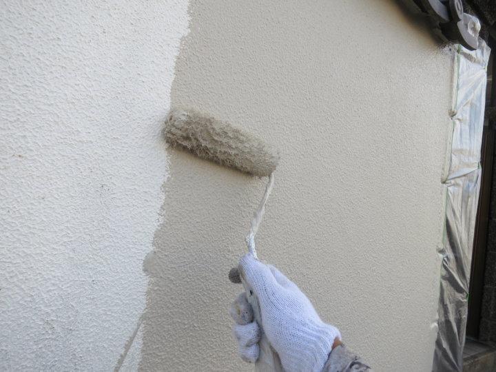⑪外塀上塗り 一回目