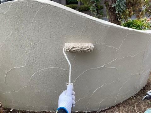 ㉑外塀上塗り 二回目