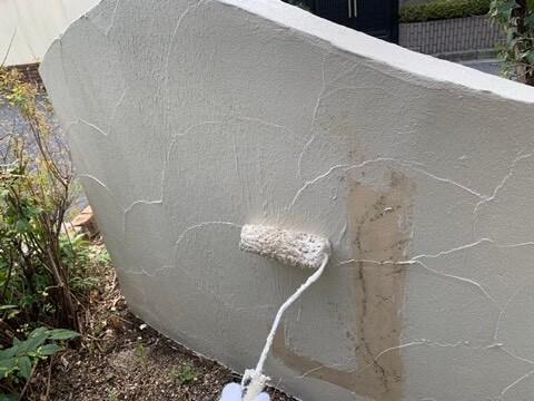 ⑳外塀上塗り 一回目