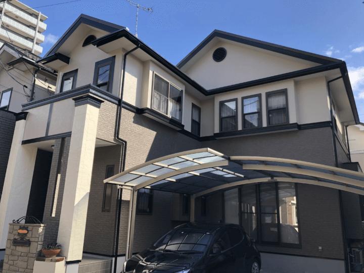 広島市安佐南区緑井 K様邸 外壁塗装・屋根塗装工事