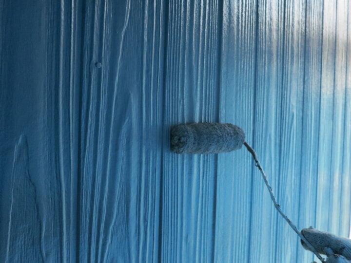 ⑲外壁(ベランダ部) 上塗り二回目