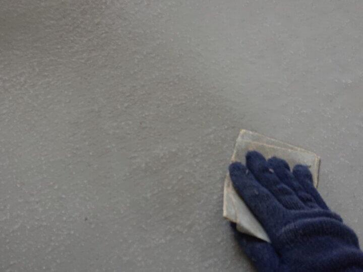 ㉔ベランダ床アセトン拭き取り