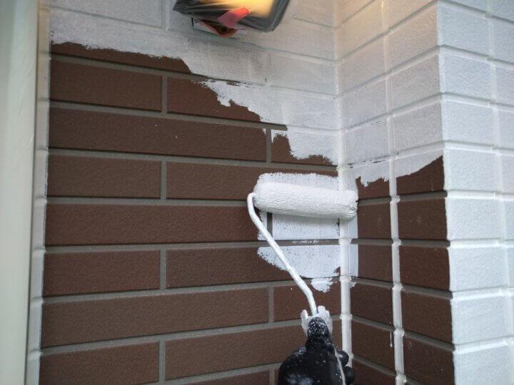 ⑬外壁下塗り