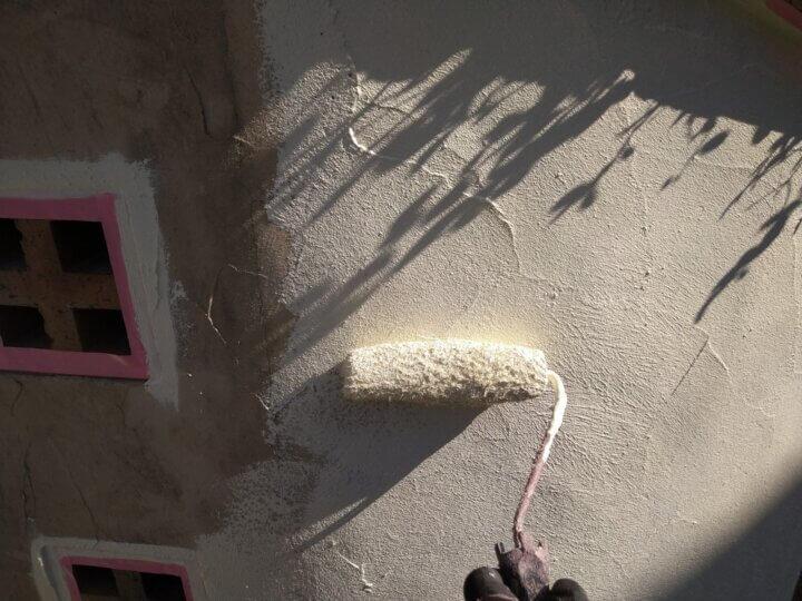 ㉒外塀上塗り 一回目