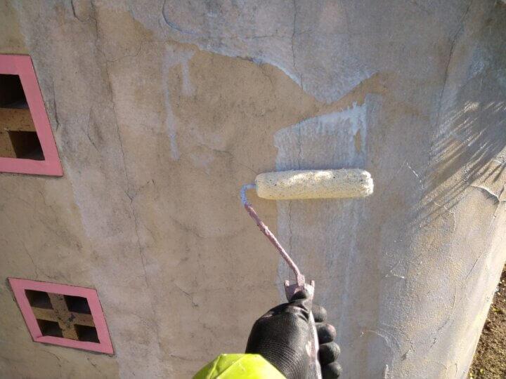 ㉑外塀下塗り