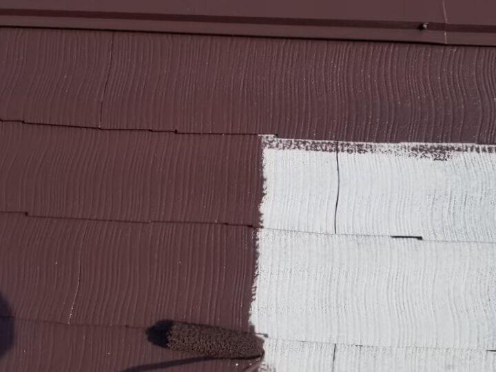 ⑨屋根上塗り 一回目