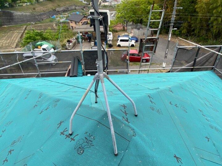 ③屋根ルーフィング敷き(屋根葺き替え工事)