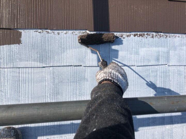 ⑥屋根上塗り 一回目