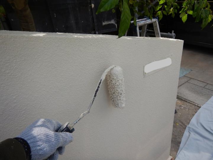 ⑳外塀上塗り 二回目