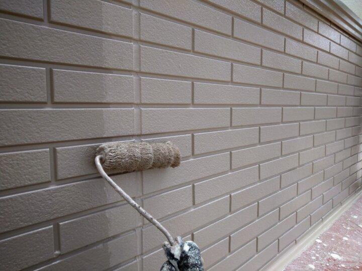 ⑯一階外壁上塗り 二回目