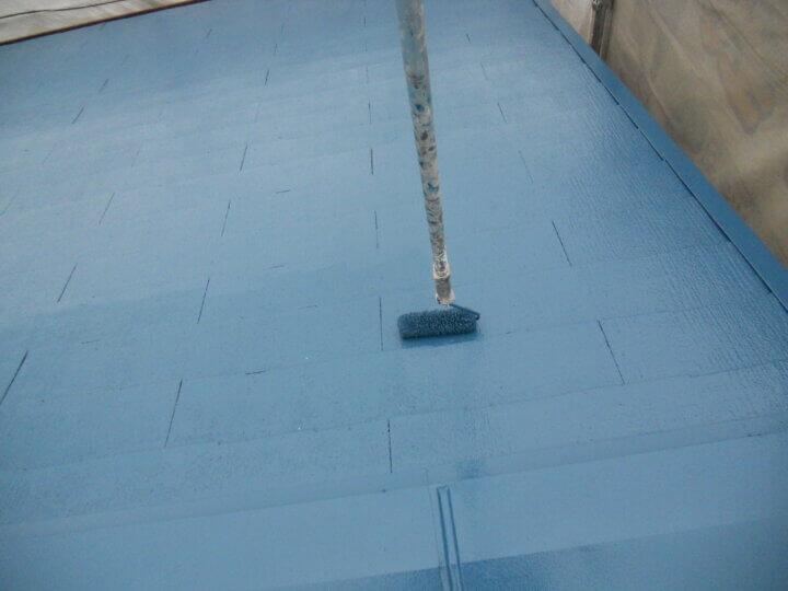 ⑦屋根上塗り 二回目