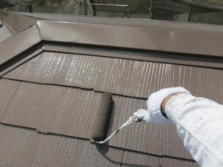 ⑥屋根上塗り 二回目