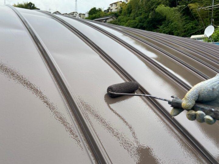 ⑫屋根上塗り 二回目