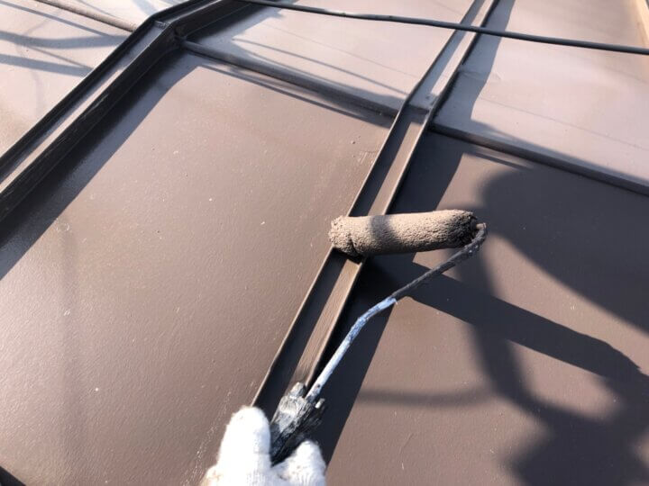 ⑤屋根上塗り 二回目