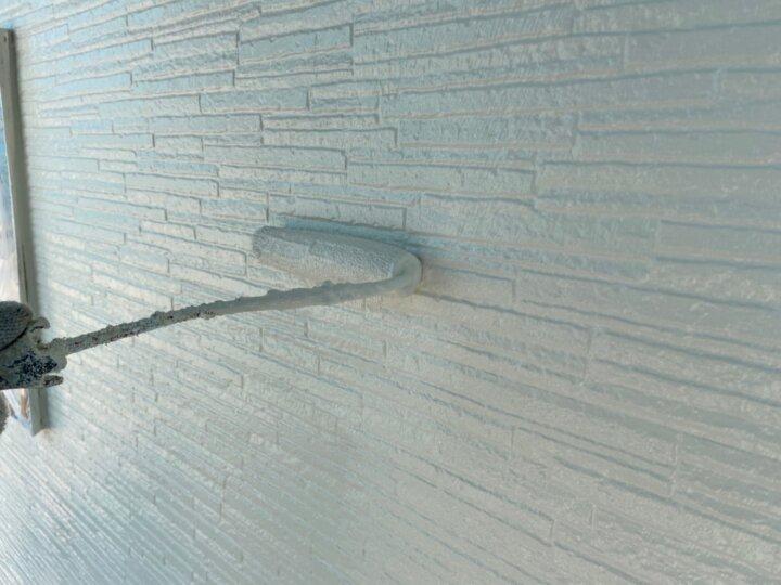 ⑱二階外壁上塗り 二回目
