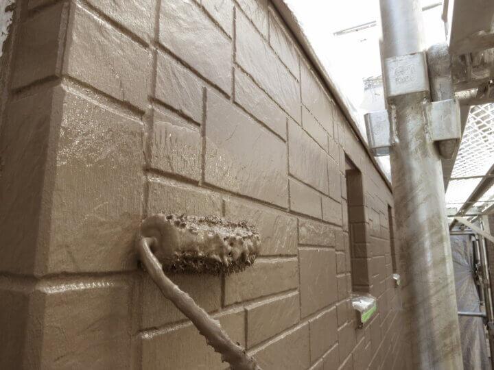 ⑭外壁上塗り二回目(SR-414)