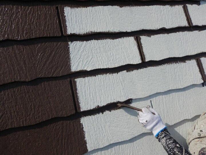 ⑪屋根上塗り 一回目