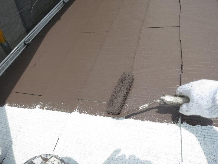 ⑤屋根上塗り 一回目