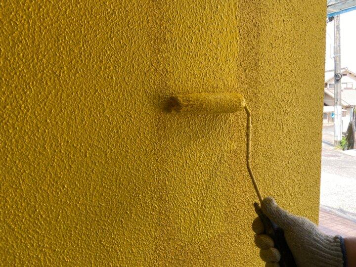 ⑮一階外壁上塗り 二回目