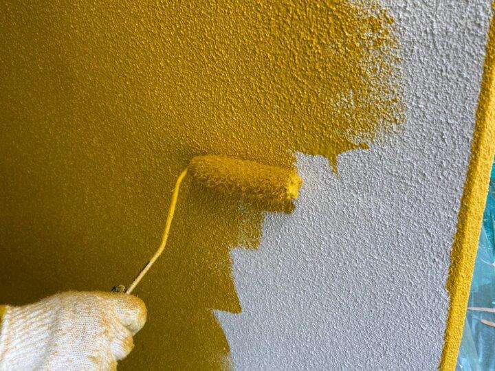 ⑭一階外壁上塗り 一回目