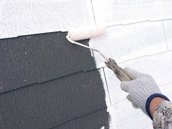 ⑩屋根下塗り
