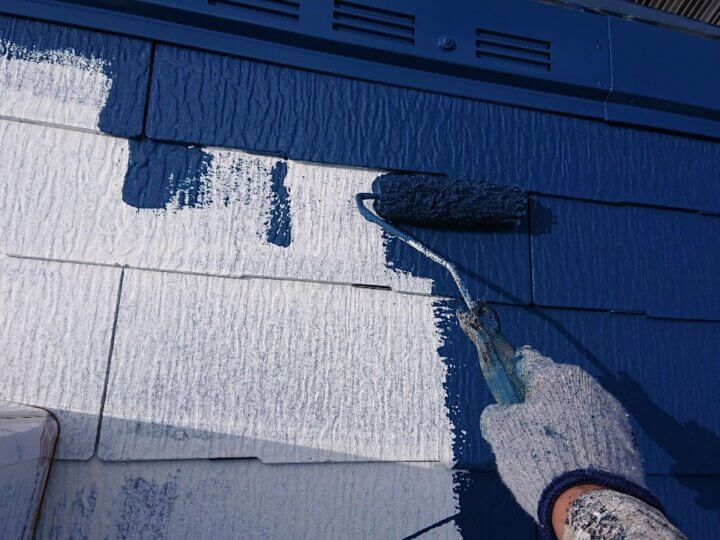 ⑫屋根上塗り 一回目