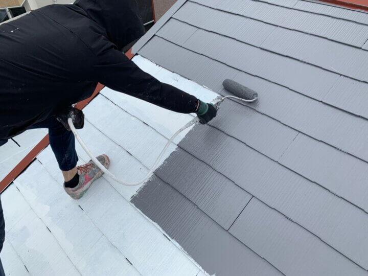 ⑩屋根上塗り 一回目