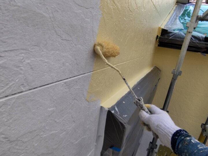 ⑪外壁上塗り一回目