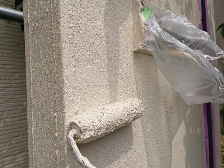 ㉒外塀上塗り 二回目